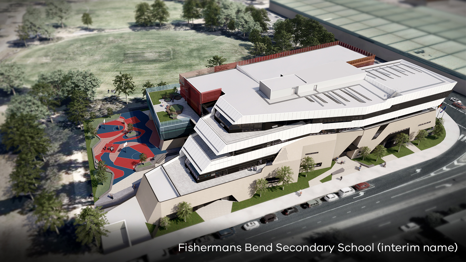 artist impression of fishermans bend secondary school